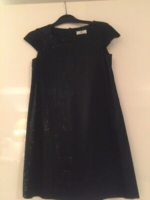 YOUNG VERSACE GIRLS BLACK RHINESTONE DRESS Age 12