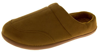 Mens Coolers Faux Suede Slippers Warm Lined Winter Slipper Mules Size 7 8 9 10