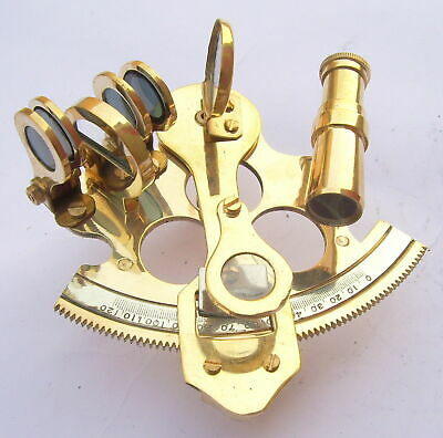Nautical Ship Instrument Astrolabe Marine Brass Sextant 2.5'' A