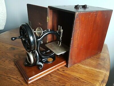 Antique Old Vintage WILLCOX & GIBBS Sewing Machine S/N 380048 With Case~1883