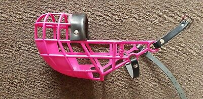 Muzzle Don Pare 101 for dogs with a narrow head Greyhound Lurcher Racing Pink
