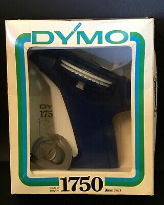 Vintage Blue Dymo 1570 Labeling Machine ,1970 Label Maker. In box as new
