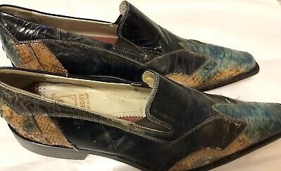 5e2d6ac835ba MEN'S MULTI COLOR Python and Leather Square toed Loafer by Jo Ghost sz 42  US 12