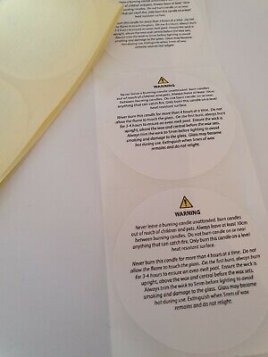 50 Candle Safety Stickers 50mm