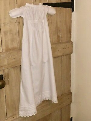 Genuine Victorian/Edwardian White Lace Cotton Christening Gown Dress Doll