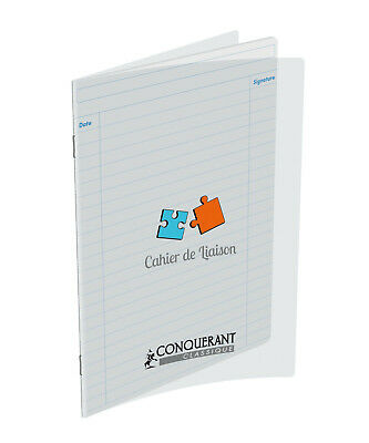 Cahier de liason - 17x22 - 48 pages - Polypro transparent