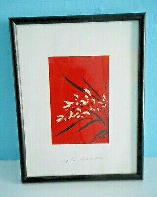 Beautiful Hand Signed Benji Asada / Tangyu Woodblock Print. Japanese Artist