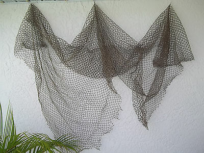 Authentic Used Fishing Net Size 5' x 10' Commercial Fish Net  Heavy Nautical Net