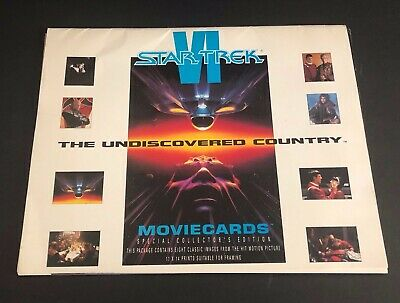 "Star Trek VI The Undiscovered Country Movie Cards with Folder 8 Prints 11"" x 14"""