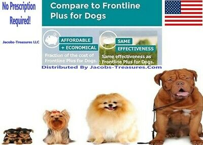 Frontline Plus For Dogs 45-88 LBS, 3 Month's, Large Dogs, JT'S Generic F&T Plus