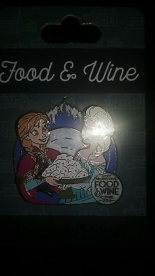 NEW Epcot Food and Wine Festival 2016 Frozen Elsa & Anna Disney Limited LE Pin