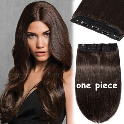 UK Clearance One Piece Clip In On Real Remy Human Hair Extensions Half Head E300