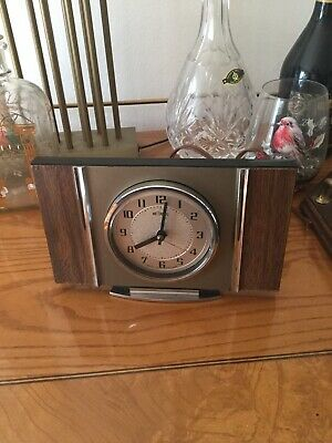 Vintage Metamec Electric Mantle Shelf Clock Working