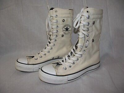 Converse All Star Unisex M5/W7 Hi-Top Fold-Over Chuck Taylor Sneaker Shoe EUC