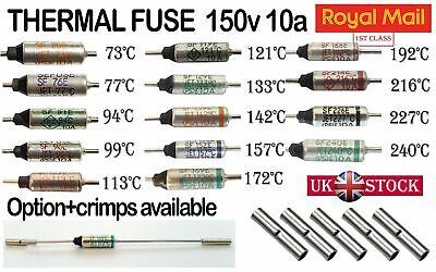 Microtemp Fusibile Termico Assiale 121 ° C 16 Amp 1st Class Post