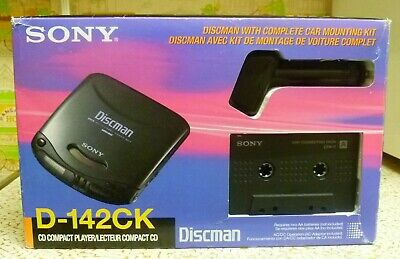 NEW/NIB Sony D-142CK Portable Compact Disc CD Player w/Cassette Converter