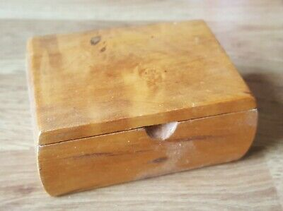 Treen walnut wood vintage Victorian antique snuff box