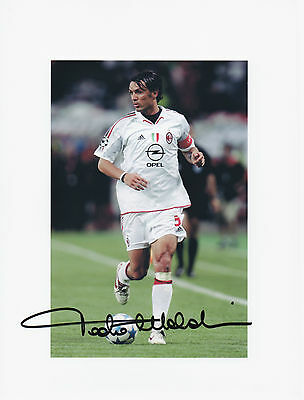 PAOLO MALDINI Signed 10x8 Photo AC MILAN & ITALY Legend COA