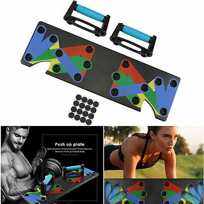 9 in 1 Push Up Rack Board System Workout Train Gym Exercise Body Building Stands