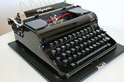 OLYMPIA ELITE - 1939 - Portable Schreibmaschine typewriter antik vintage RAR