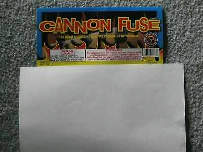 40' Fireworks Premium Cannon Hobby Fuse Label+  3mm - 23sec per foot