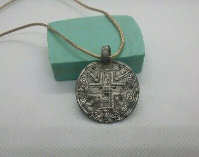AMAZING VERY RARE ANCIEN PENDANT Post-Medieval Medal CROSS 15-17th century #280