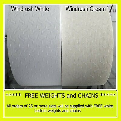 """5""""  or 3.5"""" Vertical blinds replacement SLATS Louvres Windrush White / Cream"""