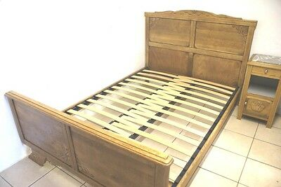 SLATTED Bed Base French + Odd Size Antique Wooden Beds 4 - 5 ft Wide EXTENDABLE