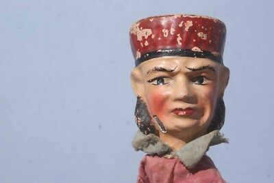 Antique FRENCH PUPPET The Judge Marionette GUIGNOL C 1920 Toy Handmade