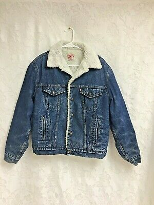 33ad2b38 Levi's Sherpa Lined Jean Jacket Coat Vintage San Francisco Mens Large 40