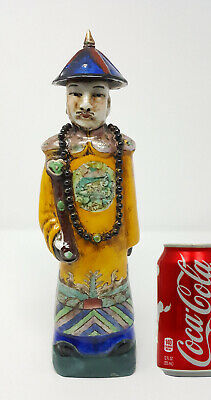 """Chinese Antique Qing Dynasty Porcelain Figures Emperor Yongzhen 11.5"""""""