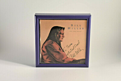 ON THE RED ROAD Bill Miller signed autographed framed CD cover