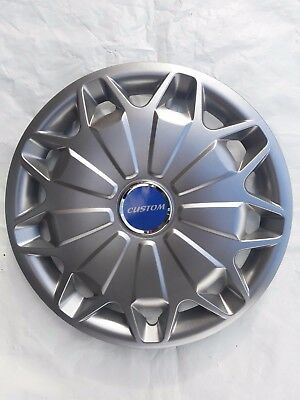 """15"""" Wheel Trims To Fit Ford Transit Custom Van 2013 - Set Of 4 Trims With Badges"""