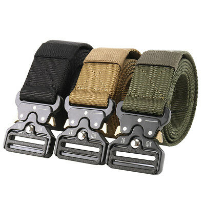 Army Belt Quick Release Buckle Military Trouser Tactical Nylon Webbing Waistband