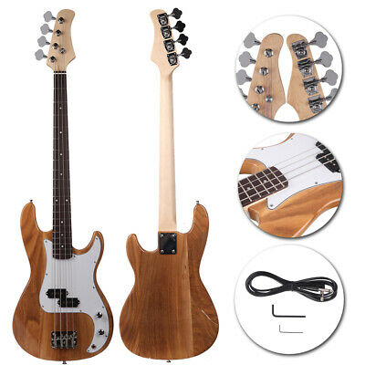 Fashion Burly Wood 4-String Electric Bass Guitar Burning Fire Style