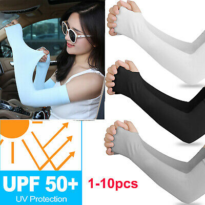 5Pair Cooling UV Sun Protection Arm Sleeves Armband Cover Stretch Sport Outdoor