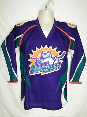 5251795c6 Autographed Vintage Orlando Solar Bears Team Hockey Jersey By Bauer Youth L/ Xl