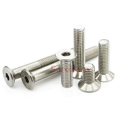 10pcs M8*1.25 16mm To 60mm 304 Stainless Steel Hex Socket Countersunk Screws