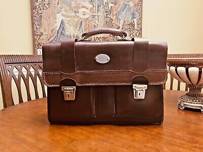 WWII German Military Officer's Vintage Leather Briefcase / Attache - VERY RARE