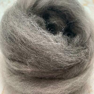 Alpaca Combed Top - Roving for Spinning - Grey & White Blend