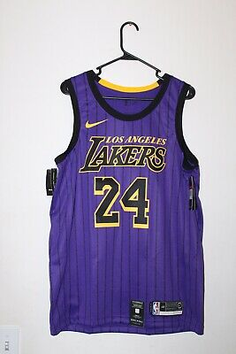 1db93549bbf Nike Nba Los Angeles Lakers Swingman City Edition Kobe Bryant #24 Jersey  Large