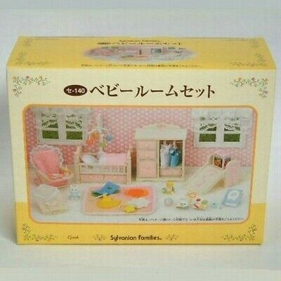 Rare Sylvanian Families Calico Critters Baby Room Furniture Set Epoch Japan