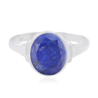 Nice Gemstone  Oval Faceted Lapis Lazuli ring - 925 Sterling Silver Blue us