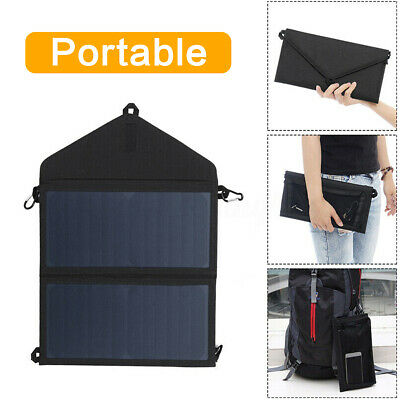 Hot 20W Foldable Solar Panel Mini USB Battery Charger Power Bank Phone Camping
