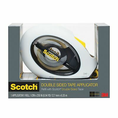 New  Scotch Tape Dispenser Scotch Double Sided 12Mm With Bonus Tape(Each)