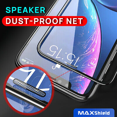 iPhone X XS Max XR 8 7 Plus Full Coverage Tempered Glass Screen Protector