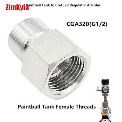 Paintball Co2 Tank to CGA320 Regulator Adapter for Air Tool,Home Brew,Aquarium