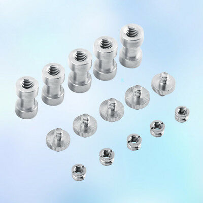 EV/_2PCS 1//4/'/' Male to 1//4/'/' Male Threaded Screw Adapter For Tripod Mount Hol P0