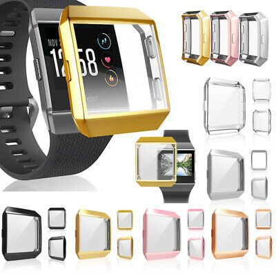For Fitbit Ionic SmartWatch Plating Screen Protector Case Full Shell Cover Frame
