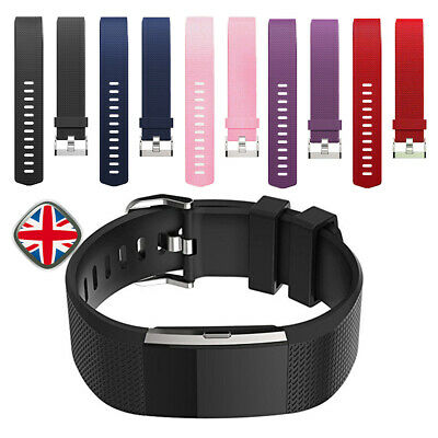 1pcs Wristband For Fitbit Charge 2 Replacement Wrist Band Silicone Strap Buckle